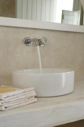 Bathroom stone sink Villa Fabrica Santorini