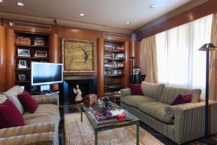 Living room fireplace The Penthouse Av de Pau Casals Barcelona