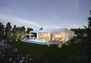 Villa rear facade swimming pool sun terrace garden Westmoreland Hills Barbados