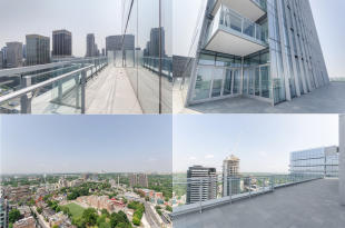 Rooftop views Yorkville Avenue Canada
