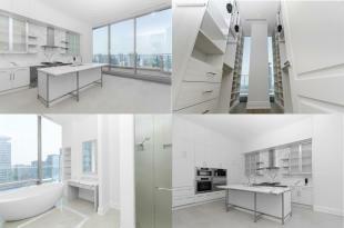 Bathroom kitchen collage white modern Yorkville Avenue Canada