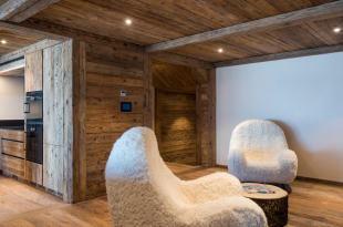 Living room kitchen open plan wood floor Residence Alex Verbier