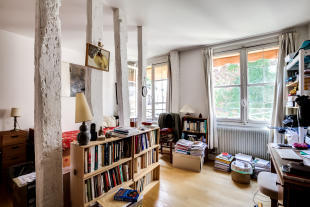Bedroom office wooden floor Postel-Vinay Paris