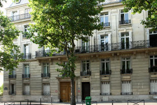 Facade iron railings Etoile Avenue President Wilson Paris
