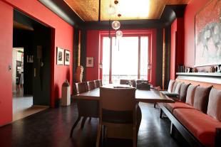 Large dining room parquet flooring Etoile Avenue President Wilson Paris