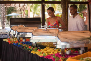 Sunday brunch served in restaurant at The Landings in St Lucia
