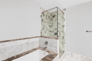 Master bathroom at 440 Kent Avenue in Brooklyn, New York