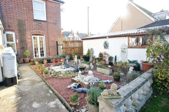 Rear garden beds