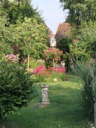 Rear garden in...