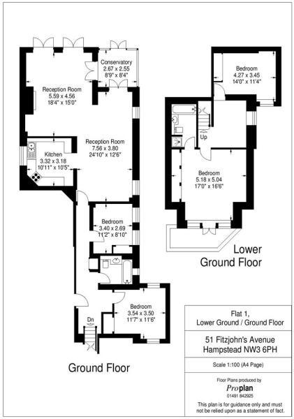 Flat 1 HHFJ floor pl