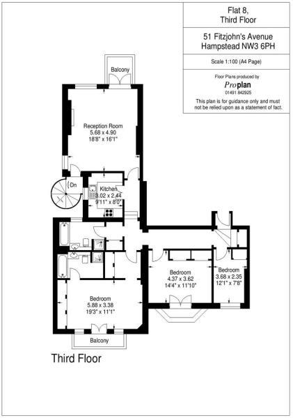 Flat 8 HHFJ floor pl