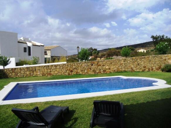 west facing pool