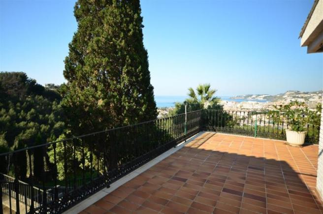 Private terrace with fabulous sea views