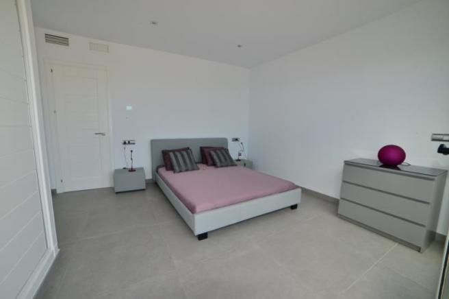 Large bedroom with great views