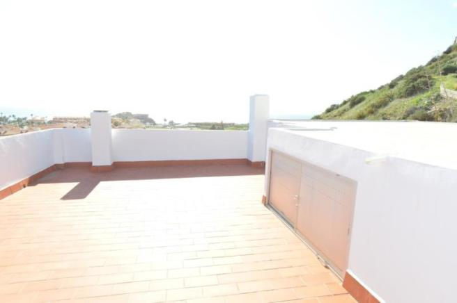 Spacious roof-top terrace with splendid views