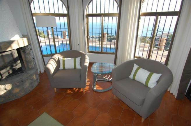 Great sea view from within the lounge