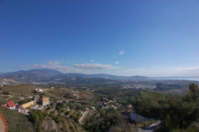 View from plot to Moorish castle of Salobrena