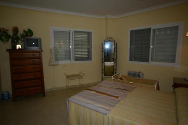 Spacious, main bedroom in lower level of house