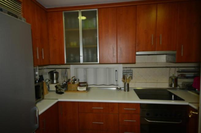 Fully fitted kitchen in main part of house