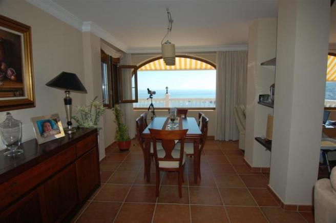 Amazing sea view from the dining room