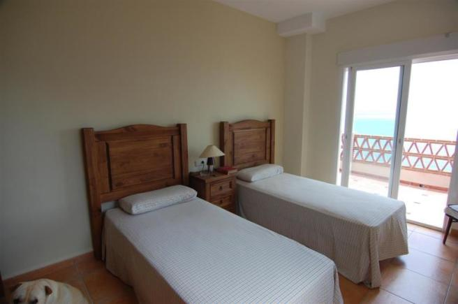 bedroom with sea view and terrace