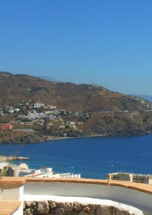 View to the coast of Granada