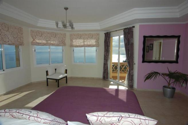 Stylish main bedroom with great sea view & terrace