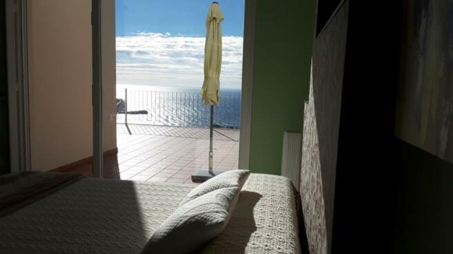 Spacious Bedroom with sea views