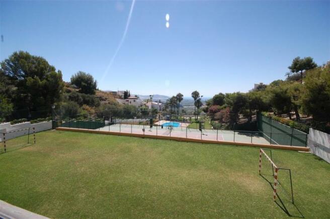 Communal football pitch near villa