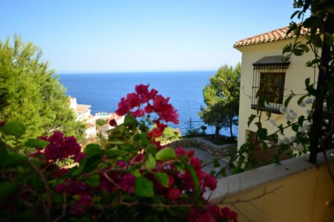 Lovely view from porch off Andalusian guest room
