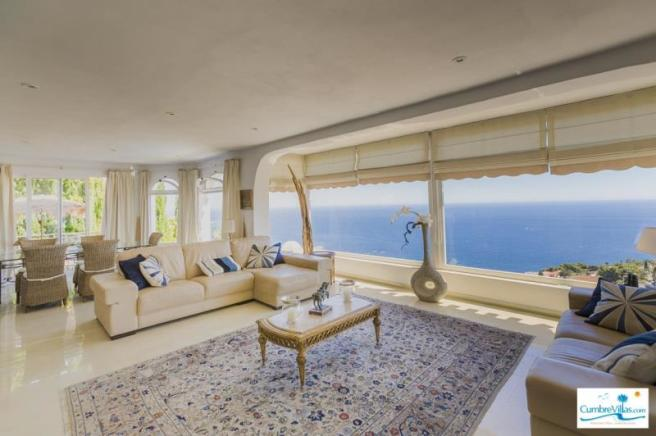 Spacious open plan lounge with future proof views