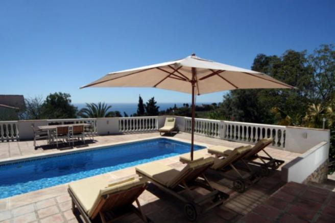 View over pool and terrace