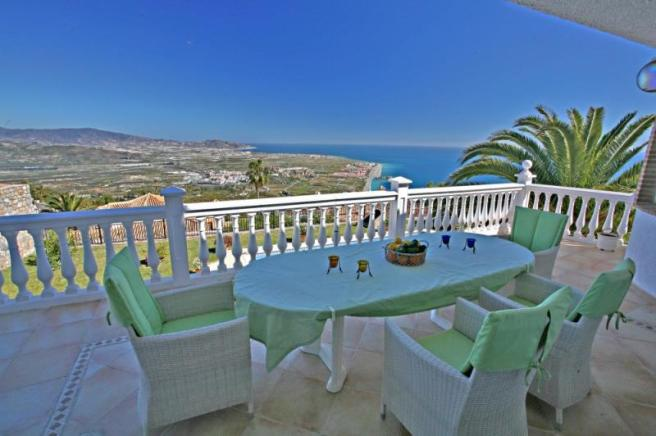 View from terrace to Costa Tropical Granada