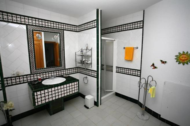 One of the spacious ensuite bathrooms