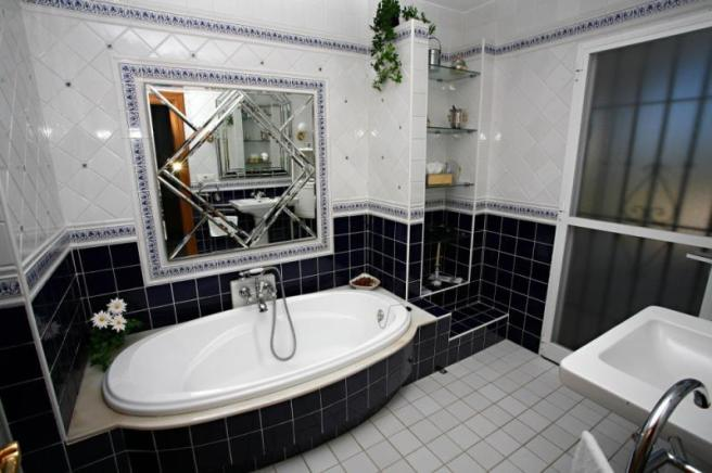 Master bathroom with pretty details