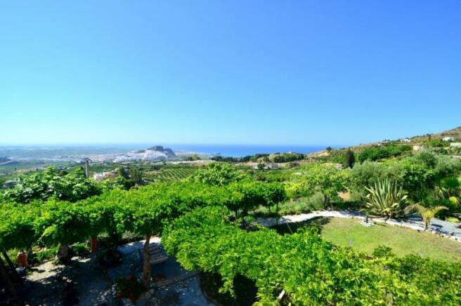 A tropical paradise, a level garden & great views!