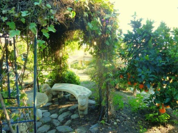 Romantic pavillon in the garden