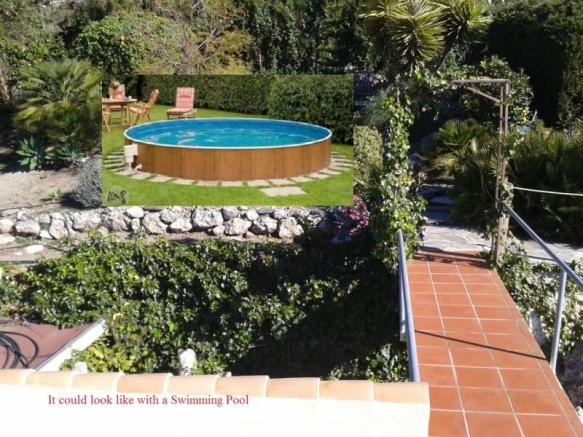 How the garden would look like with a pool