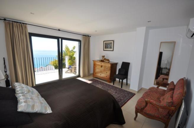 Master bedroom with beautiful sea views