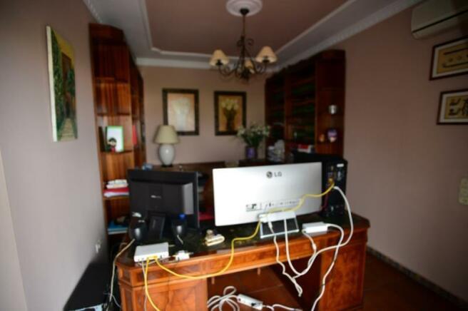 Office is off of main bedroom