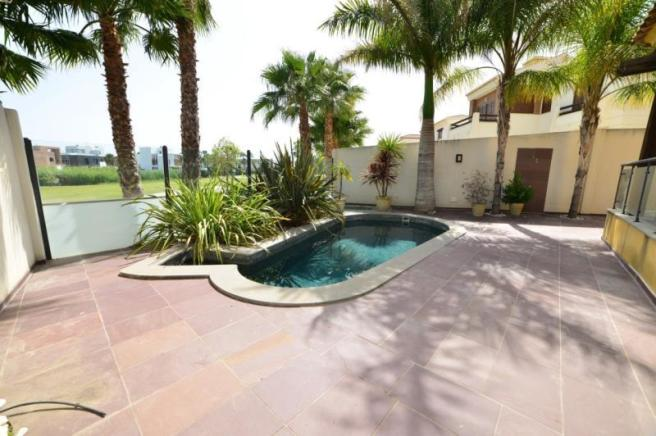nice pool with views to the golf course