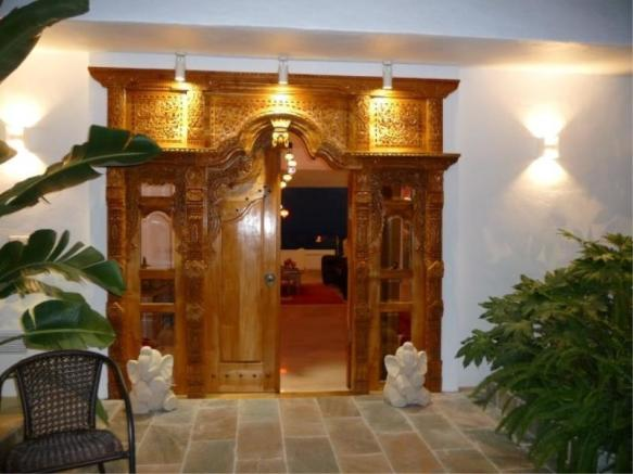 Custom, hand carved Balinese entrance door