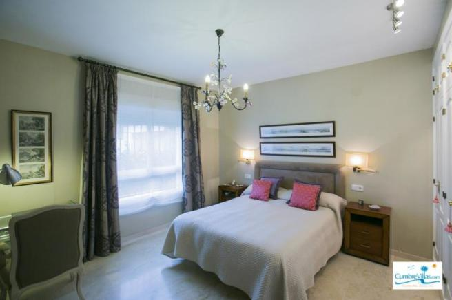 Spacious main bedroom is on the entry level