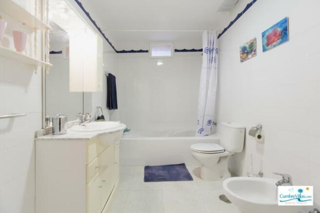 Bathroom on the lower level