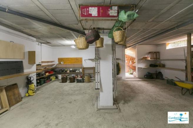 Work shop area of the basement