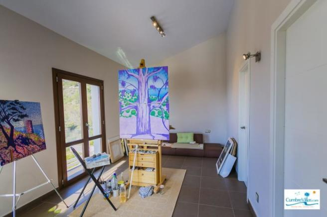 1 of 2 bedrooms on entry level with great views