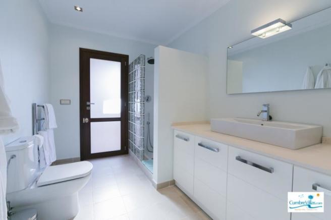 Bathroom for 2nd bedroom on lower level & guests