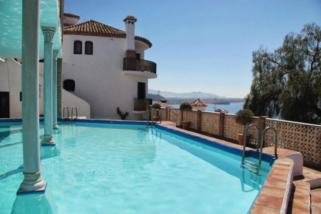 Communal pool is quiet & just 22 steps from house