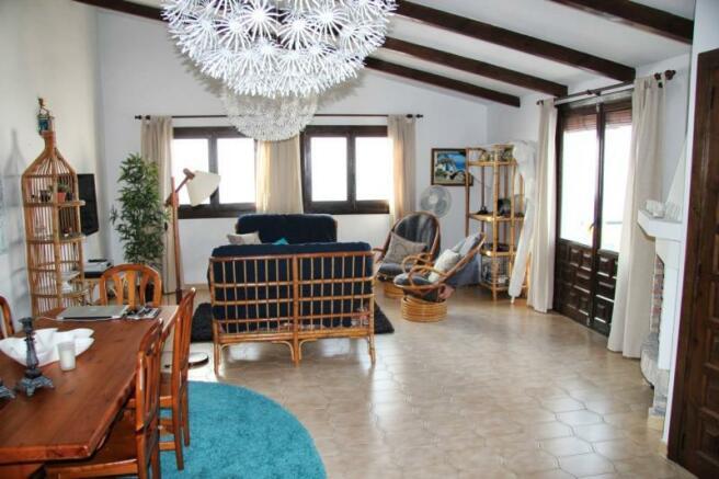 Lounge faces south & has sea views & terrace