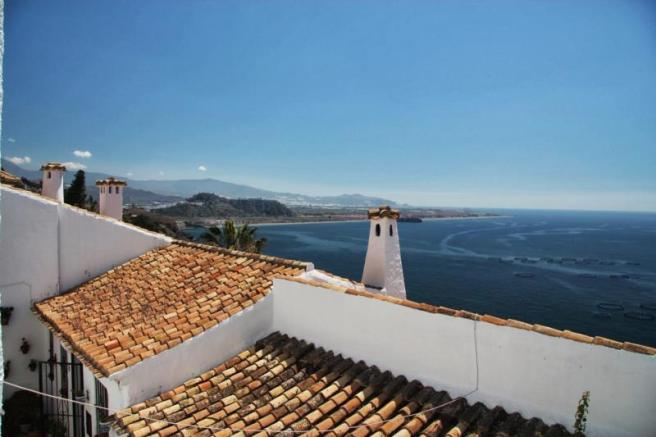 View to sea & Salobrena from living room windows
